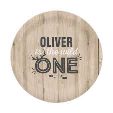 Wild One Paper Plate 7 Rustic