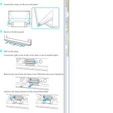 Sony Wega Lamp Problems by How To Replace Bulb In A Sony Model Kdf E60a20