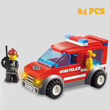 100 Toys 4 Trucks Firefighting Series Mini Fire Cars Fireman Figures Building
