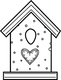 Bird House Made From Cookies Coloring Pages