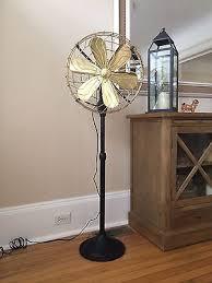 15 brass cast iron vintage floor standing fan black 3 speed