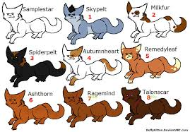 warrior cat names warrior cat names warrior cat adoptables by warrior cats names