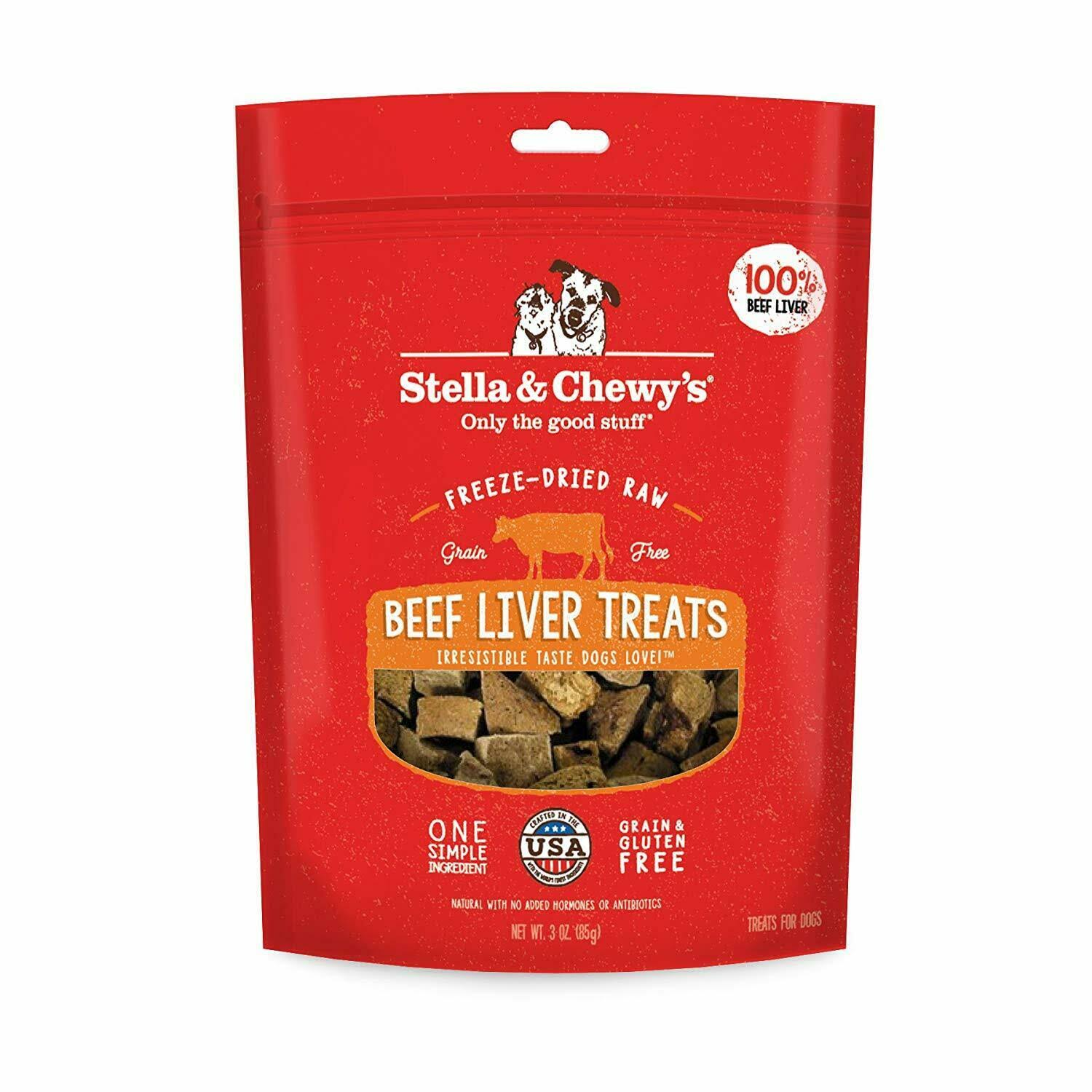Stella & Chewy's Freeze Dried Raw Beef Liver Dog Treats, 3 oz