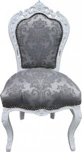 casa padrino barock esszimmer stuhl grau muster weiss ohne armlehnen antik möbel limited edition