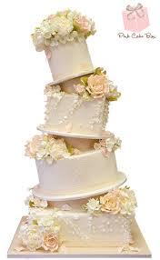 Topsy Turvy Ruffle Wedding Cake  Spring Wedding Cakes