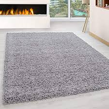 ayyildiz teppich hochflor shaggy teppich uni einfarbig wohnzimmer flauschig lightgrey polypropylen hellgrau 300 x 400