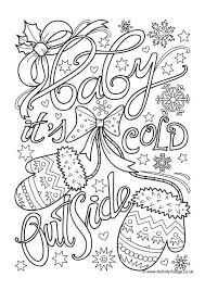 Baby Its Cold Outside Colouring Page