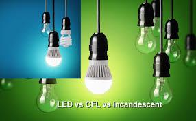 led vs cfl vs incandescent bulbs