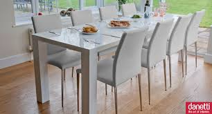 100 White Gloss Extending Dining Table And Chairs High Texture High
