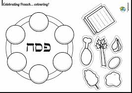 Beautiful Passover Seder Coloring Pages With And Print