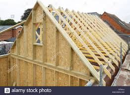 100 House Trusses Gable And Wooden Roof Trusses To A Timber Frame House Under