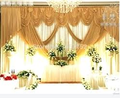 Bulk Wedding Decorations Modern Concept With Gold Backdrop Wholesale Stage Decoration