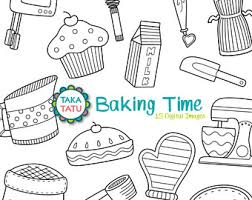 Baking Time Digital Stamp Pack Baking Clipart Baking Clip Art Cooking Clipart