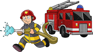 100 Fire Truck Clipart Running Fighter With Truck Cartoon Vector