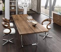 Luxury Walnut Metal Dining Table