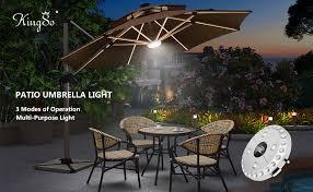 Sunbrella Patio Umbrellas Amazon by Patio Umbrella Light Kingso 3 Level Dimming Wireless 28 Leds