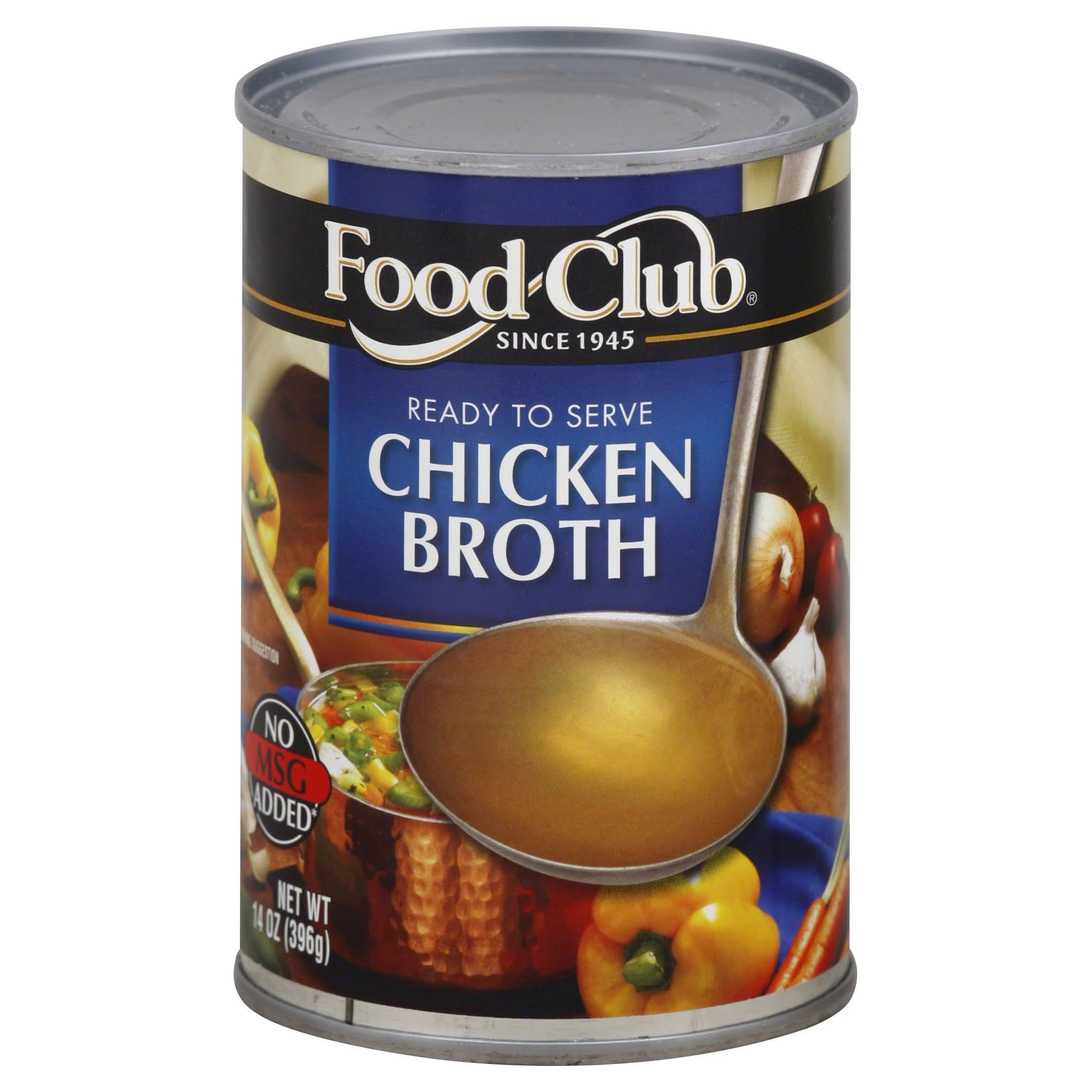Food Club Broth, Chicken - 14 oz
