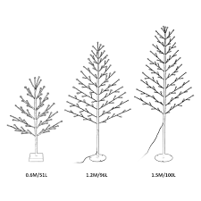 4ft Christmas Tree Sale by 4ft 96 Led Pre Lit Flat Twig Christmas Tree Warm White Lighted