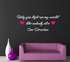 wall decal quotes one direction wall decals