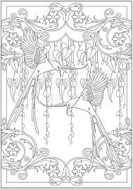 Art Nouveau Animal Designs Coloring Book Via Dover Publications