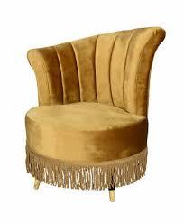 retro sessel mit fransen samt sessel wohnzimmersessel kaminsessel gold vintage