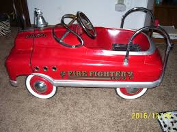 100 Antique Fire Truck Pedal Car FIRE FIGHTER ENG 23 FD No 1 1950 STYLE COMET PEDAL CAR