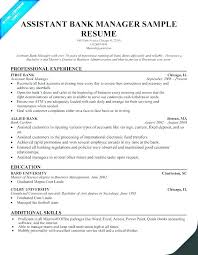 Sample Resume Banking Project Description Bank Samples Teller No Experience For