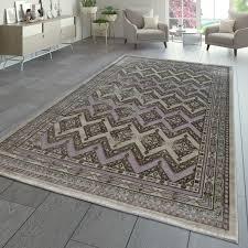 kurzflor teppich orient abstrakt grau