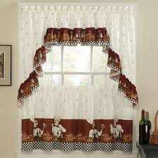 Amazon Rooster Kitchen Curtains by Amazon Com Savory Chefs Kitchen Curtains Ruffled Valance Home