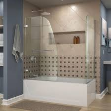 Bathtub Doors Home Depot by Dreamline Aqua Uno 60 In X 58 In Semi Framed Hinged Tub Shower