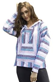 womens mexican baja hoodie sweater pink purple blue at amazon