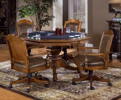 Chromcraft Dining Room Chairs by Amazon Com Nassau 5 Piece Game Set W Leather Back Game Chair
