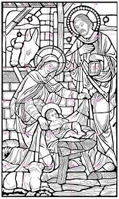 Nativity Mural Coloring PagesChristmas