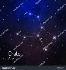 Crater Cup Constellation In The Night Starry Sky Vector Illustration