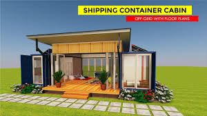 100 Cargo Container Cabins Shipping Off Grid Cabin Design With Floor Plans CABINBOX 2X20 By SHELTERMODE