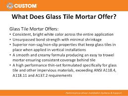 glass tile thin set mortar