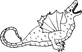 Standing Dragon Coloring Picture Pages Dinosaur Pictures Free Kids Book