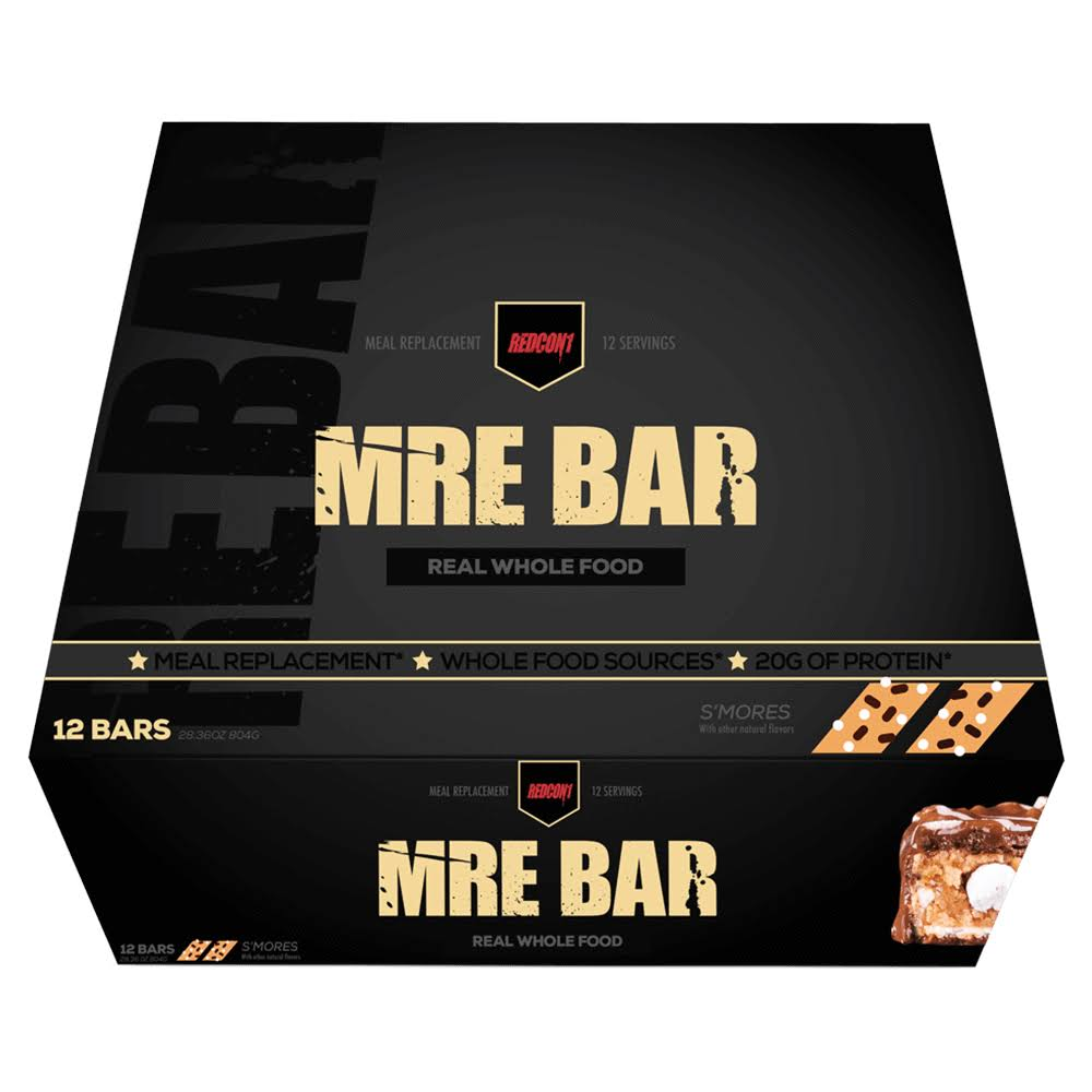 Mre Bar Meal Replacement Bars, S'mores - 12 pack, 2.36 oz bars
