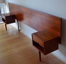 Ebay Queen Bed Frame by Retro Mid Century Danish Modern Teak Queen Bed Head Bedside Tables