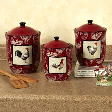 Red Kitchen Decor Sets Intended For Encourage Throughout Canister Set