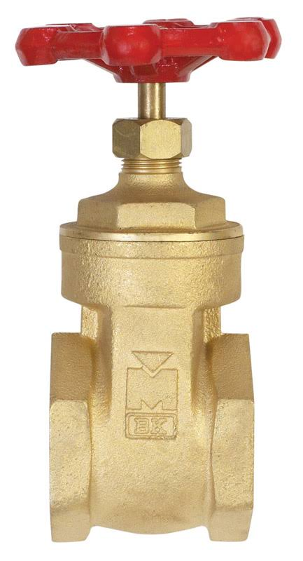 Mueller 100008 Brass Threaded Gate Valve - 2""