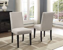 Amazon.com: Roundhill Furniture Biony Tan Fabric Dining Chairs With ... Shop Flatiron Nailhead Upholstered Ding Chairs Set Of 2 By Chair Custom Awesome Tufted Dhi Nice Nail Head Pack Multiple Colors Classic Parson Living Room Trim Benchwright Ii Velvet Of By Inspire Q Scottsdale With Button Tufting And Premium 90 Off World Market Abbie Beige Linen