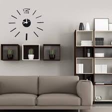 3D DIY Acrylic Mirror Sticker Wall Clock For Home Decoration Living Room Art Clock
