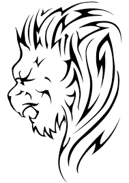 Click To See Printable Version Of Lion Head Tattoo Coloring Page