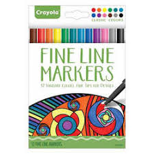 Crayola 12ct Colouring Fineline Markers