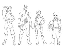 Click To See Printable Version Of Star Wars Rebels Characters Coloring Page