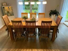 esszimmer tisch mit 8 stühlen