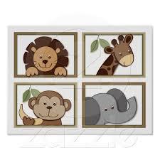 Baby Zoo Jungle Animal Nursery Wall Art Prints Baby Zoo Animal