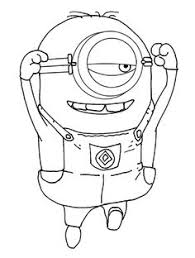 The One Eyed Minion Coloring For Kids