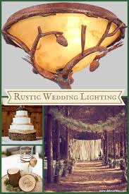 Lighting For A Rustic Style Outdoor Wedding With Elegant Wall Sconces